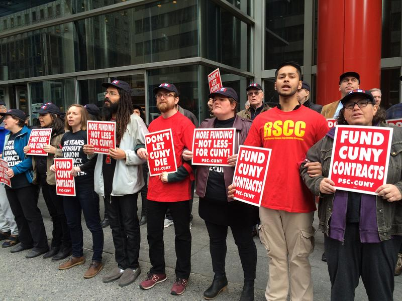 More than 40 protesters were arrested outside the governor's office in Manhattan on March 24, 2016.