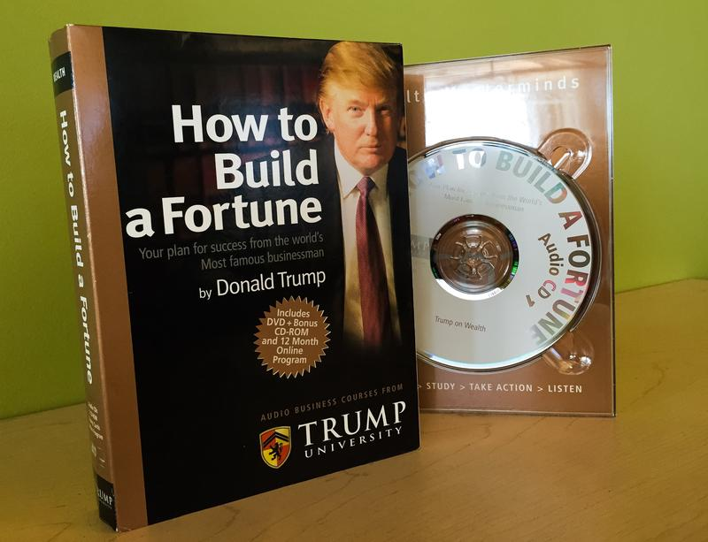 Donald Trump audio business course. Janet Babin/WNYC