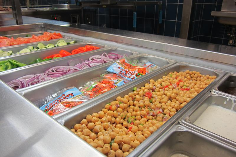 A salad bar at the Spruce Street School in Lower Manhattan