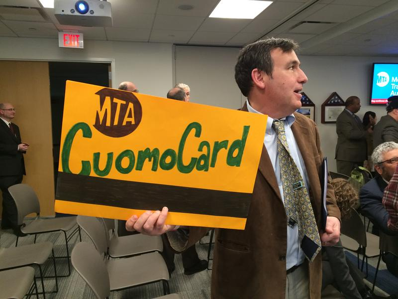 The CuomoCard, as showcased by Gene Russianoff of the Straphangers Campaign