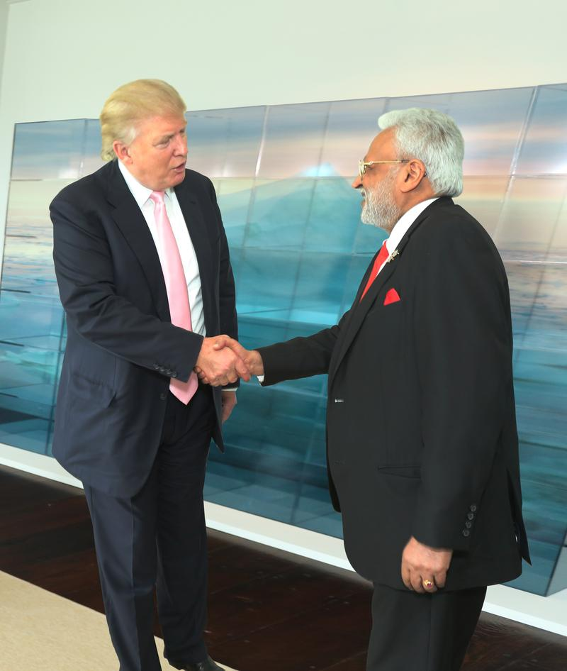 Donald Trump and Shalabh Kumar