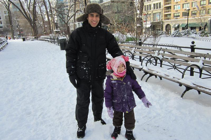 Alden Gewirtz and his daughter Julia enjoying the snow
