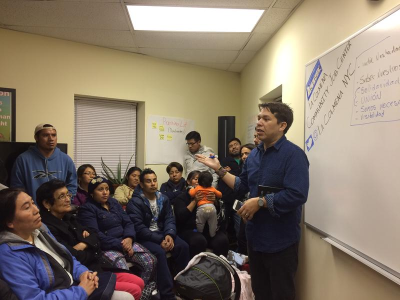 Gonzalo Mercado encourages Mexican immigrants on Staten Island to  be unified as they face the uncertainty of a Trump Presidency.