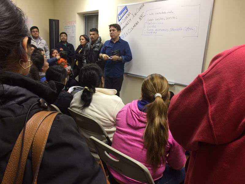 Mexican immigrants strategize on how to respond to a Trump  Presidency.