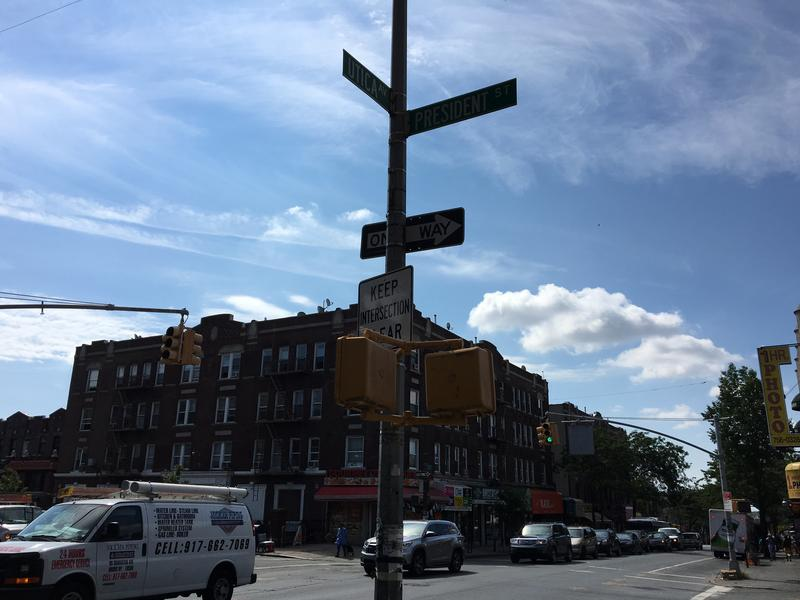 The corner of President Street and Utica Avenue, where the Crown Heights Riots of 1991 occurred.  There's no sign to mark the site. No visible scars.
