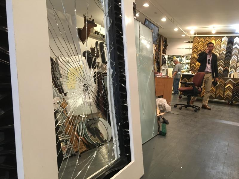King David's Gallery, which suffered massive damage after a bomb exploded next door on 23rd Street in Chelsea.
