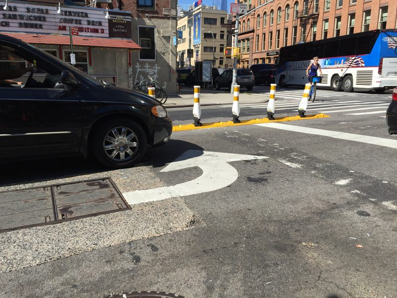 The NYC DOT is trying to make left turns safer
