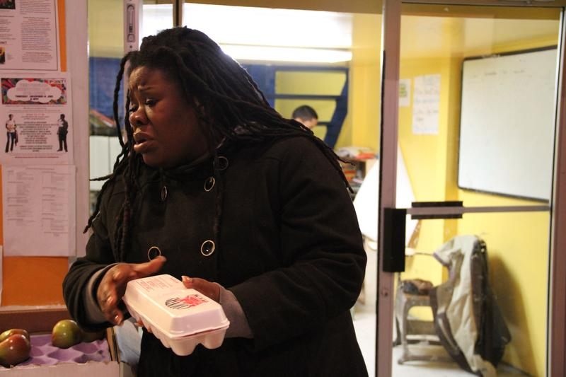 Tanya Fields tries to sort out an egg debacle on the first day of her South Bronx Mobile Market initiative.