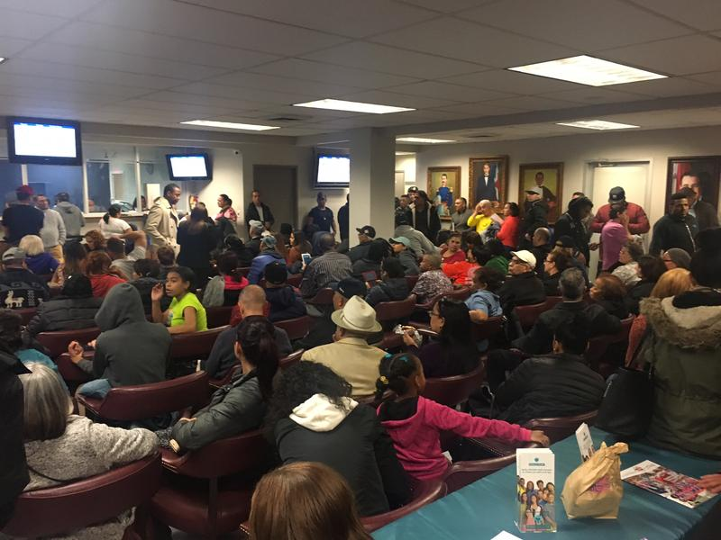 Crowds at the Dominican Consulate in New York have more than doubled amid confusion over new immigration policies.
