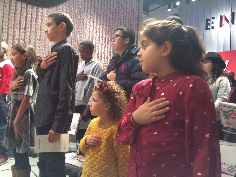 Twenty children hailing from 14 countries received their U.S. citizenship certificates at the Museum of Food and Drink in Brooklyn