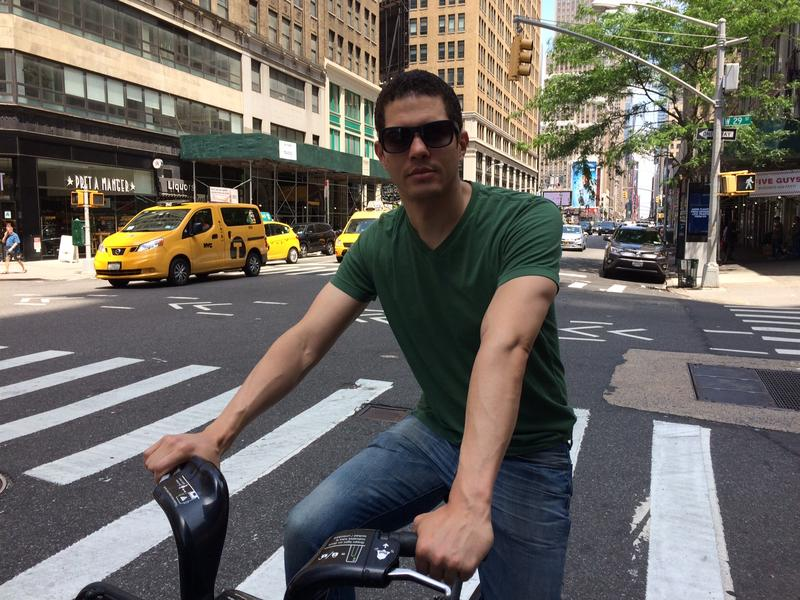 Guillermo Cabrera at W. 29th St. and Seventh Ave., where a cyclist was killed, said the city should make better bike lanes.