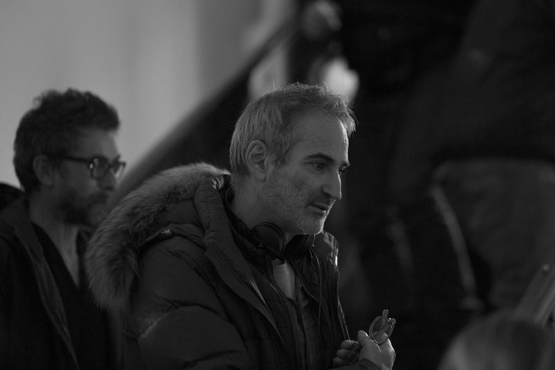 Olivier Assayas on the set of his film PERSONAL SHOPPER. Courtesy of IFC Films. An IFC Films release.