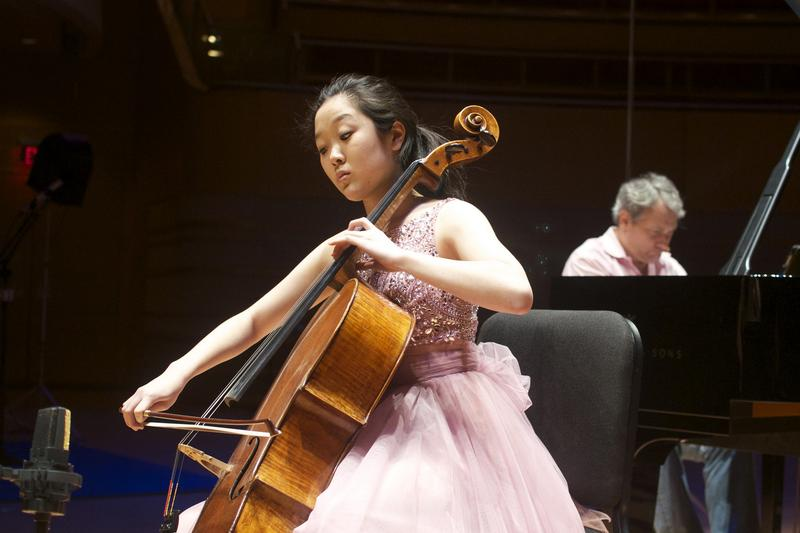 Cellist Ila Shon and Christopher O'Riley.
