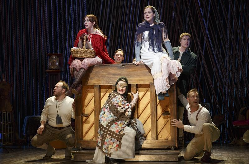 Emily Young, Ben Steinfeld, Claire Karpen, Patrick Mulryan, Noah Brody, Jennifer Mudge, and Andy Groteluschen in INTO THE WOODS