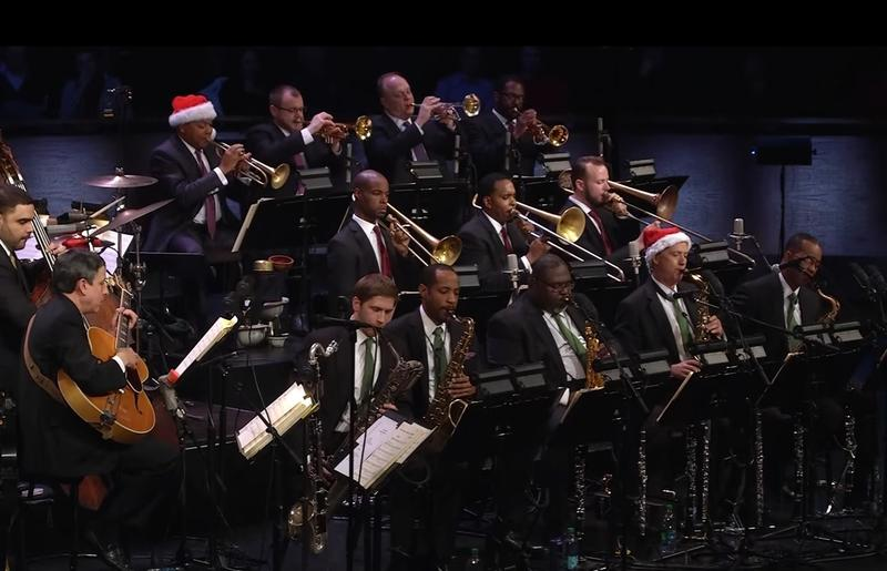 Wynton Marsalis and the Jazz at Lincoln Center Orchestra (still from Big Band Holidays)