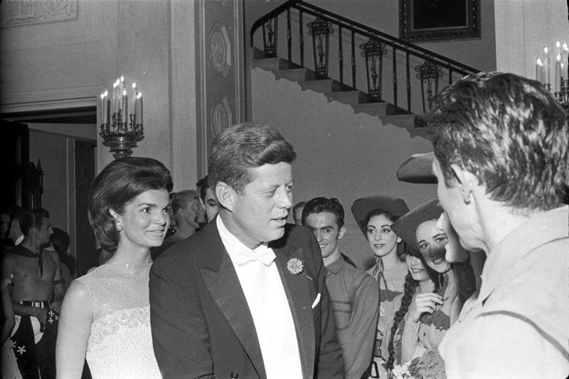 President John F. Kennedy Greets Performers from American Ballet Theatre.