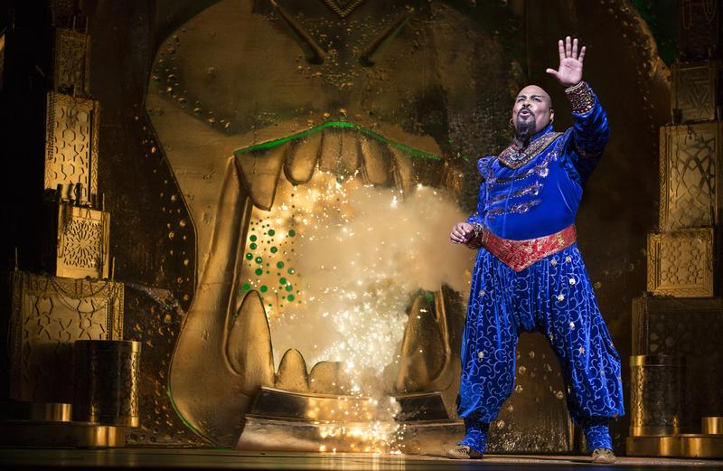 "James Monroe Iglehart as Genie in ""Aladdin"" on Broadway"