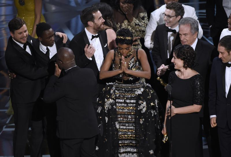 """While an unprecedented mix-up stopped the film's team from celebrating at first, """"Moonlight"""" made history as the first all-black cast film to win the Oscar for best picture."""