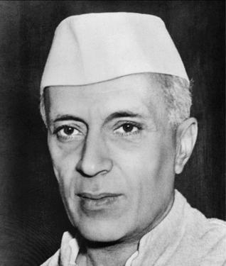 Indian Prime Minister Jawaharlal Nehru in  1946.
