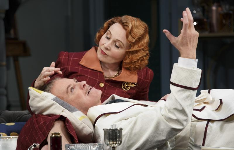 "Kevin Kline and Kate Burton perform a scene from their show ""Present Laughter."""