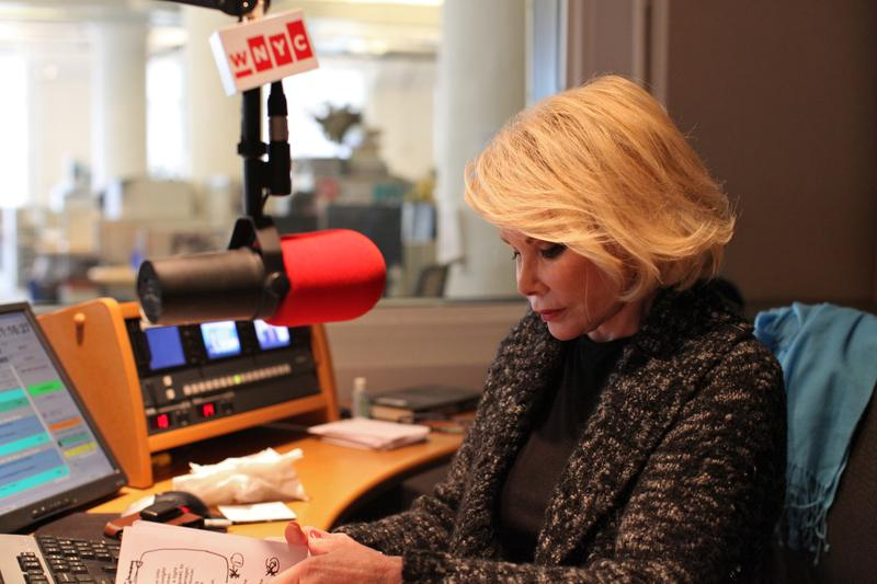 Joan Rivers preparing to host WNYC's Leonard Lopate Show