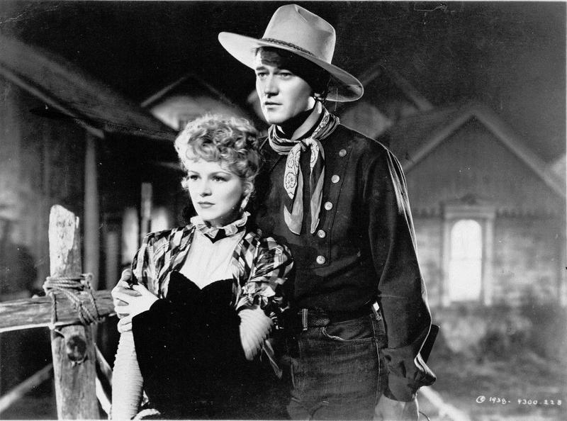 "Claire Trevor and John Wayne in ""Stagecoach,"" directed by John Ford, 1938"