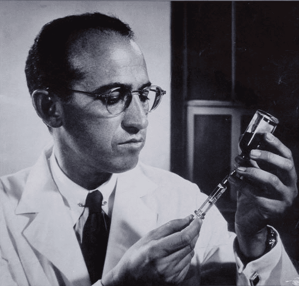 Jonas Salk from Wisdom magazine cover