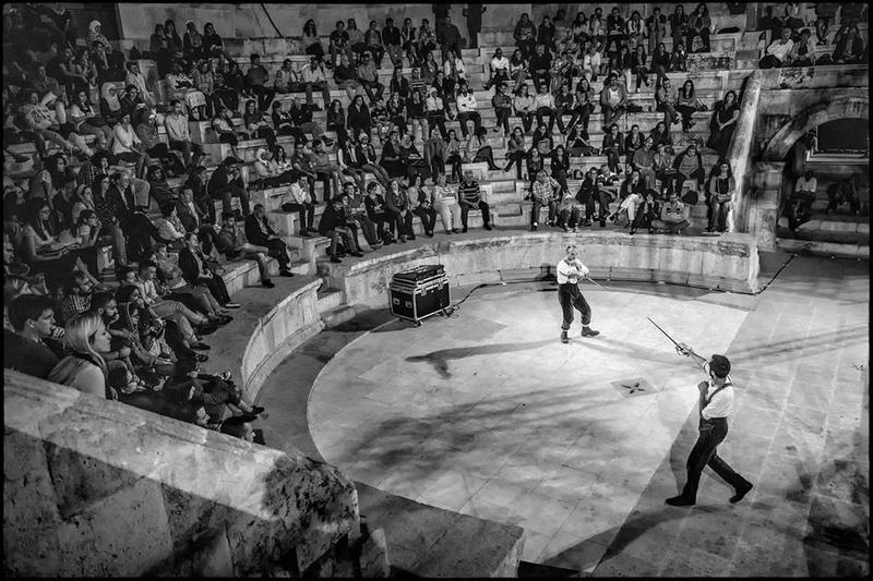 "The Globe performs ""Hamlet"" at the Odeon Amphitheatre in Amman, Jordan"