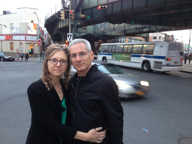 Judy Kottick and Ken Bandes at the Myrtle-Wyckoff intersection in Ridgewood, Queens.
