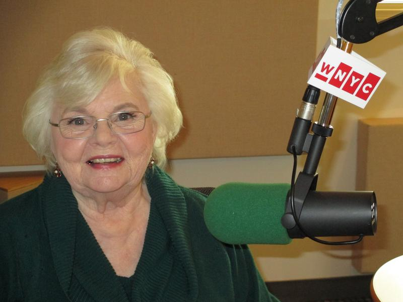 June Squibb in the studio at WNYC, January 27, 2014.