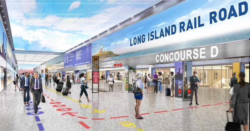 What the Long Island Rail Road concourse at Penn Station may look like in 2020