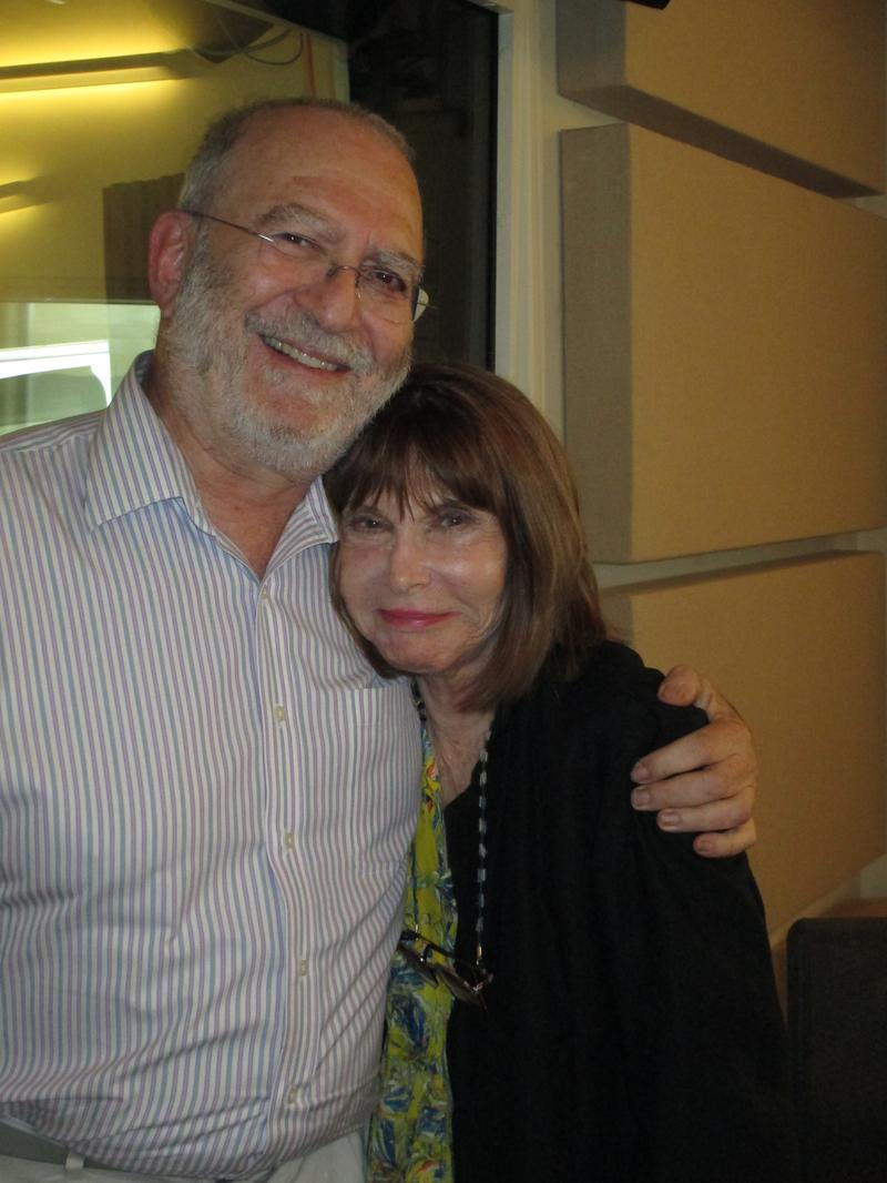 Leonard Lopate with Lee Grant at WNYC, July 10, 2014.