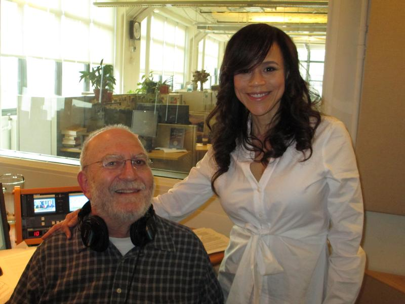 Leonard Lopate and Rosie Perez in the WNYC studios