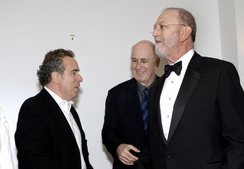 Michael Lomonaco, Phillip Lopate, and Leonard Lopate,  at Leonard's 25th Anniversary Roast