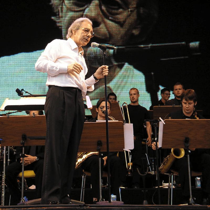 Lalo Schifrin in concert with the Big Band of the Kölner Musikhochschule on July 7th 2006 in Cologne, Germany.