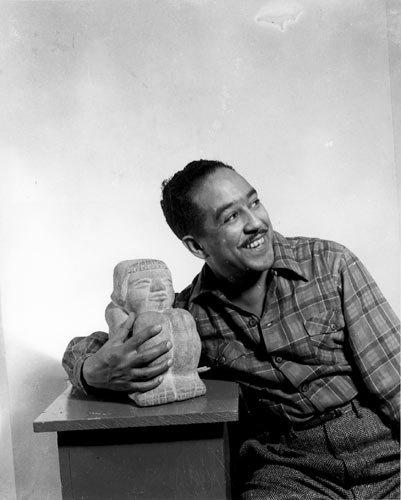Langston Hughes in 1943 by Gordon Parks