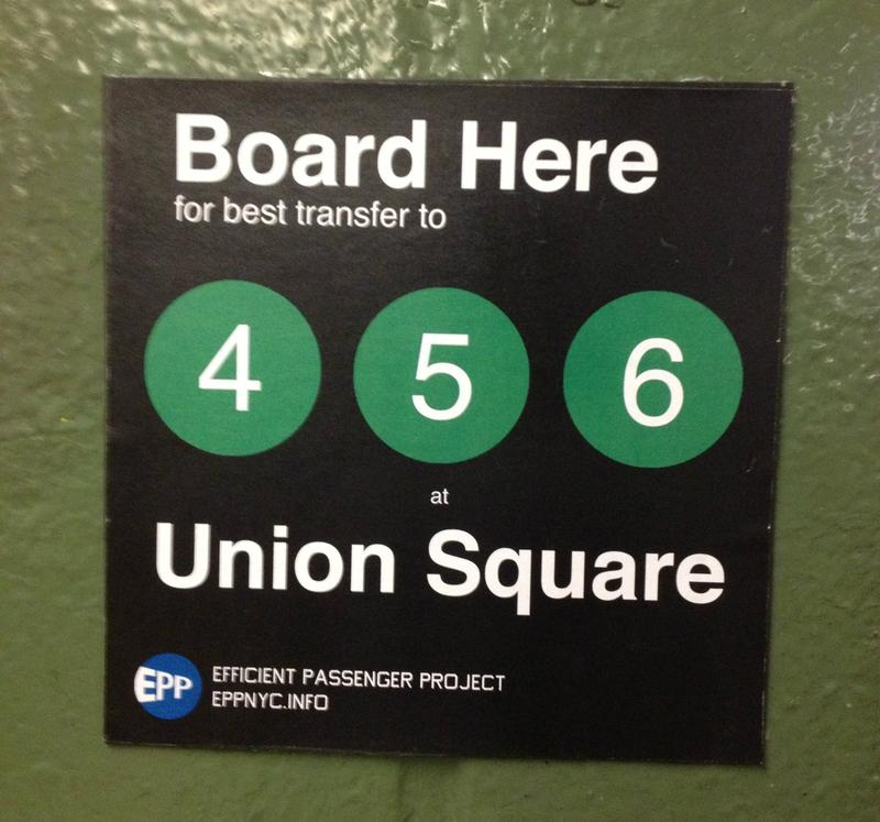 "It's all about positioning: subway signage from the ""Efficient Passenger Project"""