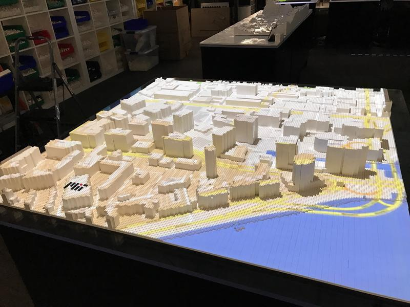 The MIT Media Lab's mini city, which displays all sorts of data to improve urban -- and social -- planning.
