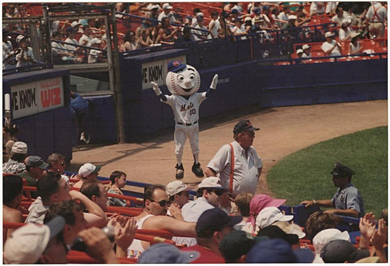 AJ Mass as Mr. Met in 1996.