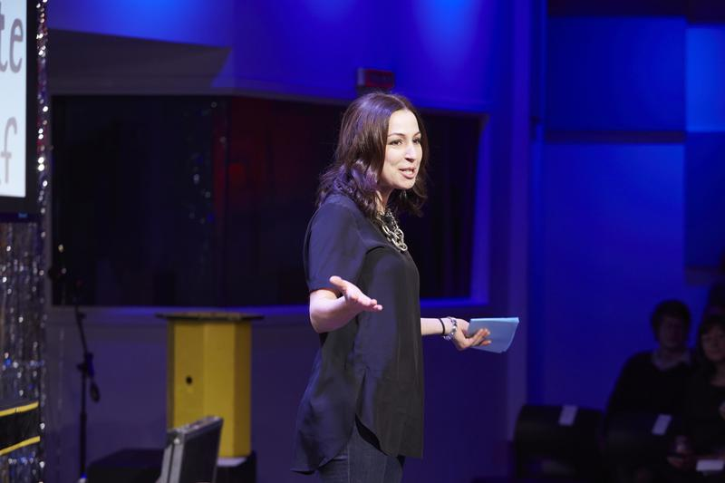 Manoush Zomorodi, host of Note to Self, launches the Infomagical series in The Greene Space
