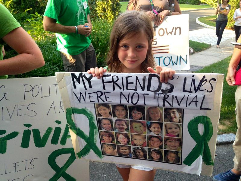 Marie Morosky, 7, said five of her friends died in the Sandy Hook Elementary massacre.