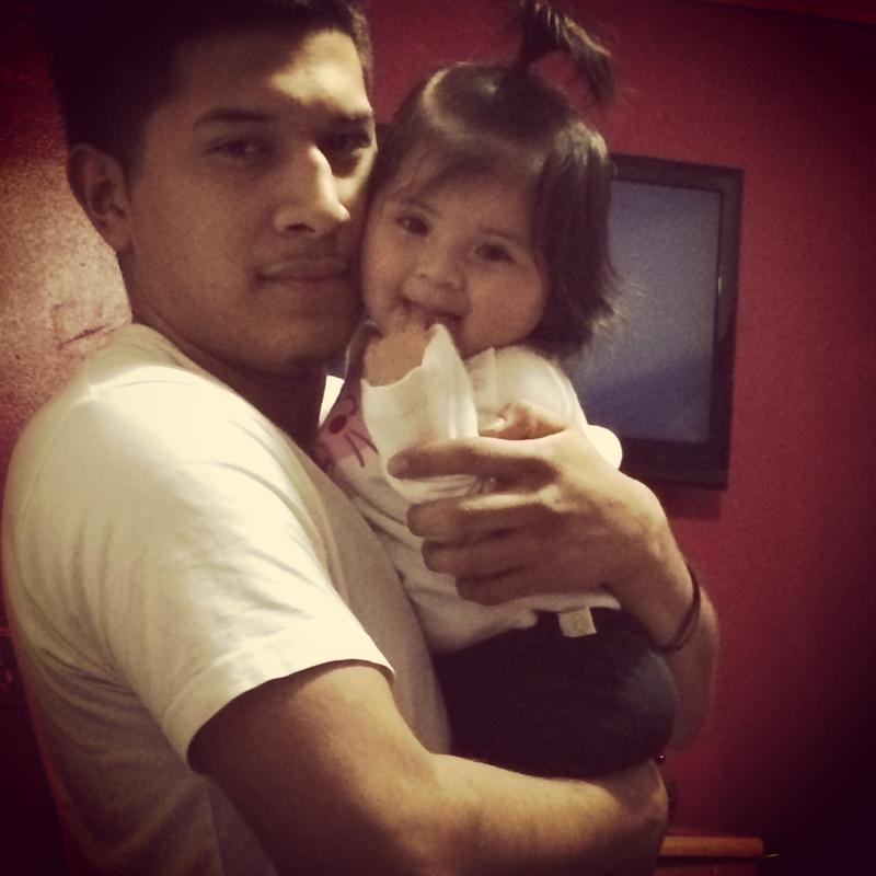 Marvin and his daughter Hailey.