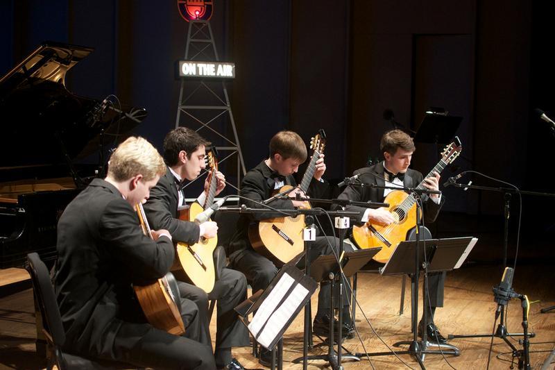 The McCallie Guitar Quartet.