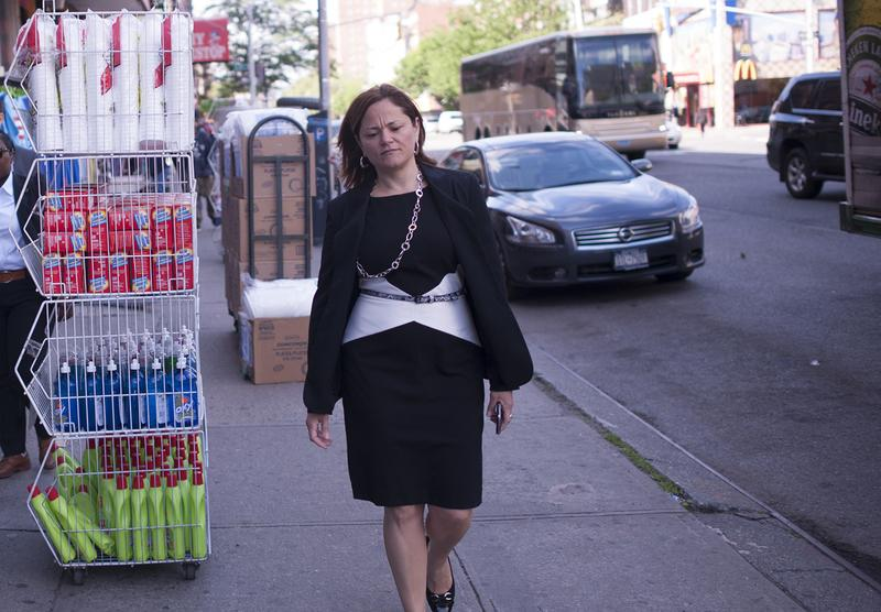 Speaker Melissa Mark-Viverito takes an Early Morning Walk through Her Neighborhood and Chats with Residents and Constituents.
