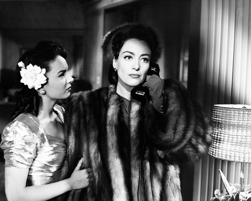 "Joan Crawford in ""Mildred Pierce,"" 1945. Joan Crawford slaves her way to success for her thankless child, Ann Blyth."