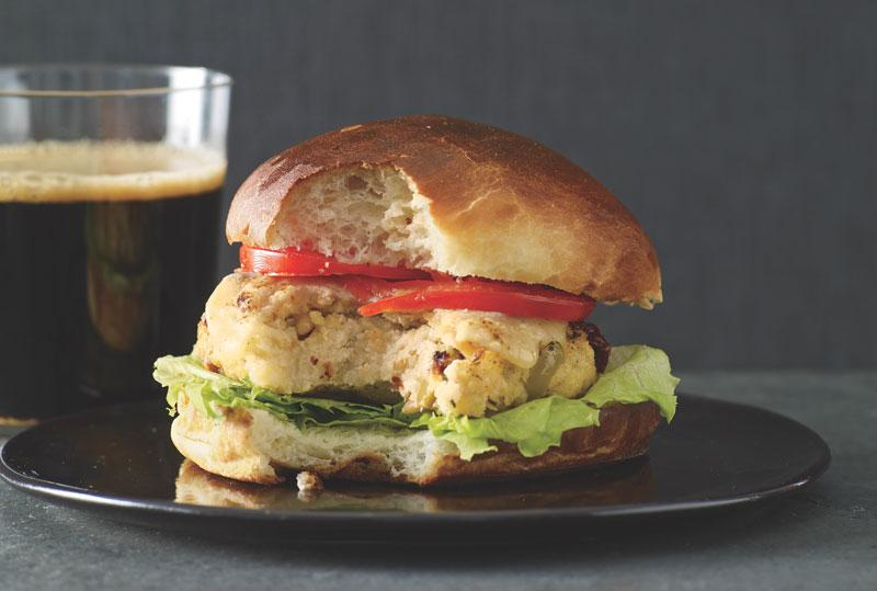 Millet Burger with Olives, Sun-Dried Tomatoes, and Pecorino