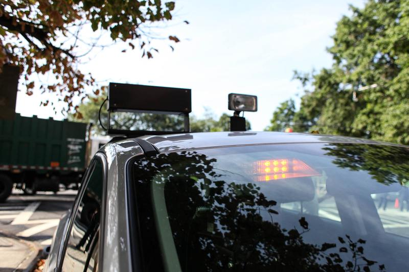 Mobile speed camera, used to take pictures of cars speeding near schools. The city hopes to have 140 cameras installed by the end of the 2016.