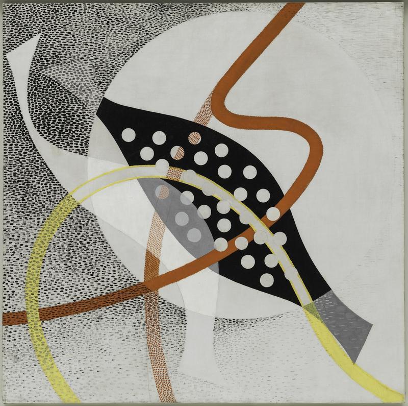 László Moholy-Nagy CH BEATA I, 1939 Oil and graphite on canvas, 118.9 × 119.8 cm