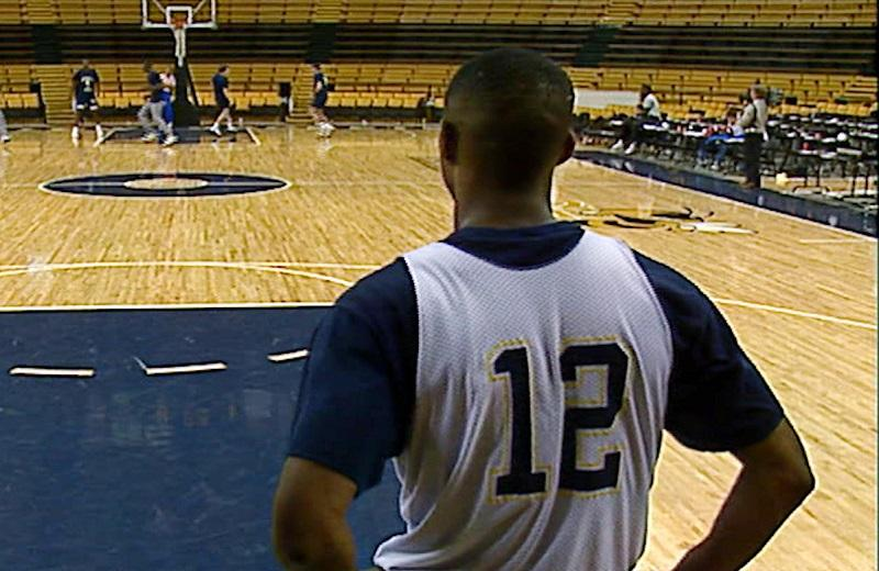 """Kenny Anderson on the college court in """"Mr. Chibbs,"""" directed by Jill Campbell."""