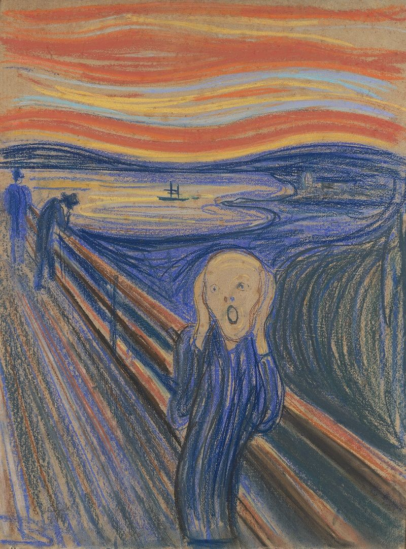 Edvard Munch (1863-1944) The Scream, 1895 Pastel on board in the original frame 79 x 59 cm (31 1/8 x 23 ¼ in.) Private Collection